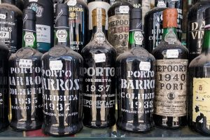 An amazing display of old, beautiful port wine!