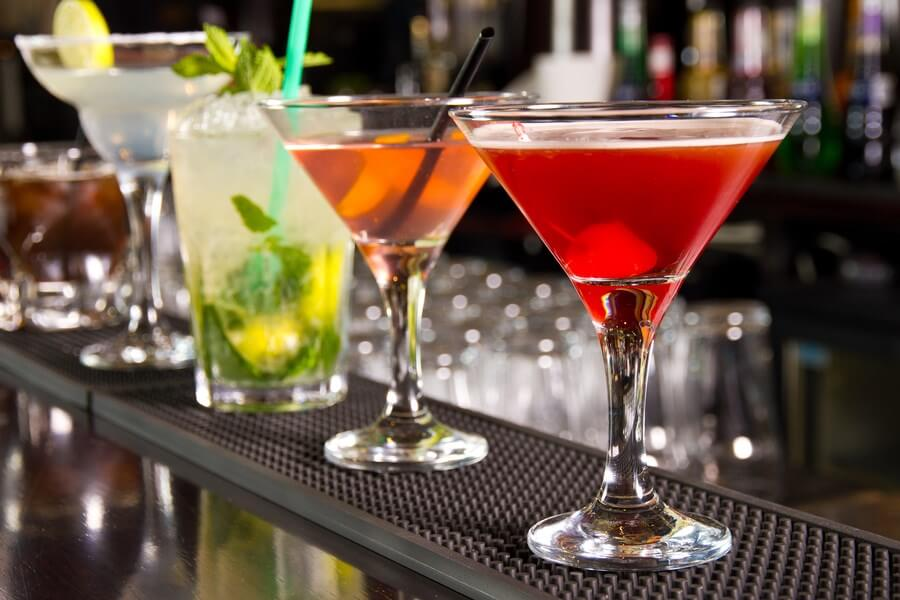 A beautiful row of elegant vermouth cocktails!
