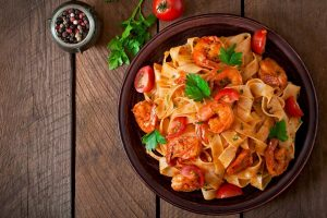 Shrimp Linguine With Tomato