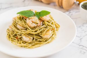Shrimp Pasta With Sugar Snap Peas
