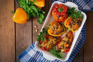 Vegetarian Stuffed Peppers - DP