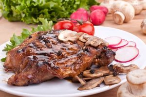 Peppercorn Steak With Mustard-Wine Sauce